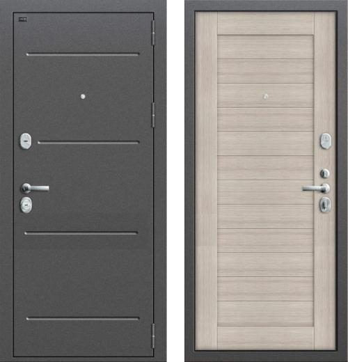 входные двери (стальные двери, металлические двери) DOORS007: дверь Groff Т2-221 Cappuccino Veralinga