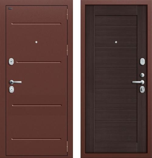 входные двери (стальные двери, металлические двери) DOORS007: дверь Groff Т2-221 Wenge Veralinga