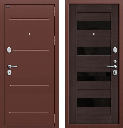 входные двери (стальные двери, металлические двери) DOORS007: дверь Groff Т2-223 Wenge Veralinga/Black Star