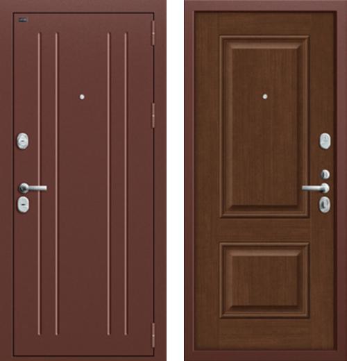 входные двери (стальные двери, металлические двери) DOORS007: дверь Groff Т2-232 Brown Oak