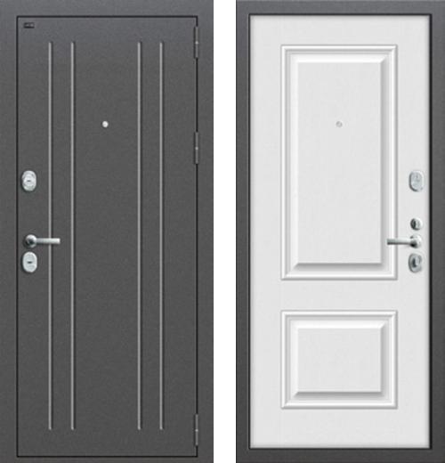 входные двери (стальные двери, металлические двери) DOORS007: дверь Groff Т2-232 Virgin