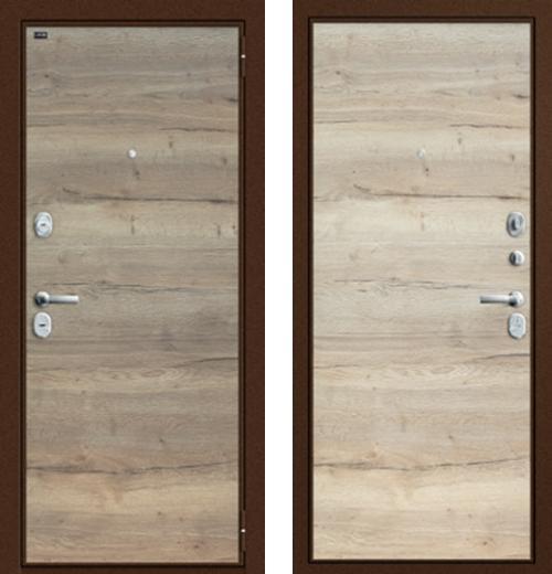 входные двери (стальные двери, металлические двери) DOORS007: дверь Groff Т3-300 Tobacco Oak / Natural Oak