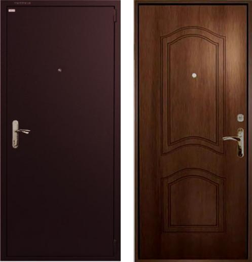 входные двери (стальные двери, металлические двери) DOORS007: дверь Гардиан ДС1 ФЛ03 Темный орех