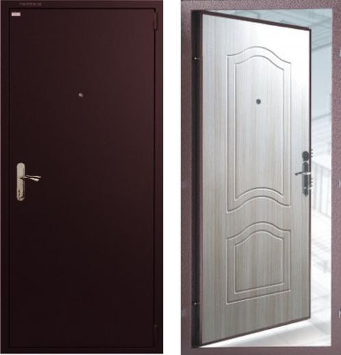 входные двери (стальные двери, металлические двери) DOORS007: дверь Гардиан ДС1 ФЛ03 Беленый дуб