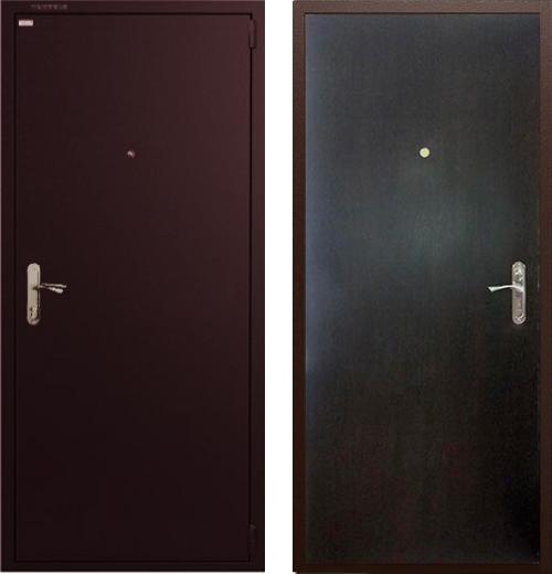входные двери (стальные двери, металлические двери) DOORS007: дверь Гардиан ДС1 Венге темный