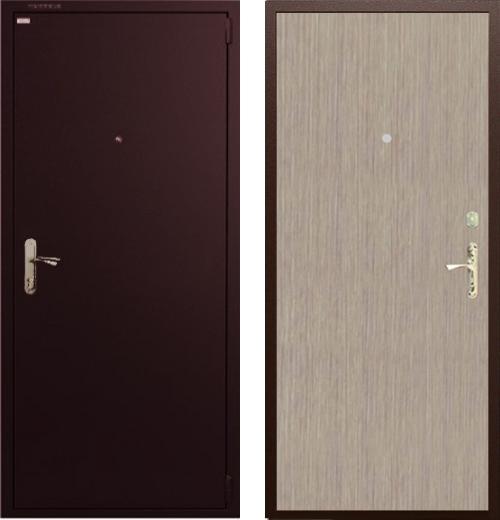 входные двери (стальные двери, металлические двери) DOORS007: дверь Гардиан ДС1 Венге светлый