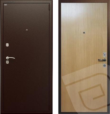 входные двери (стальные двери, металлические двери) DOORS007: дверь Гардиан ДС2 Дуб
