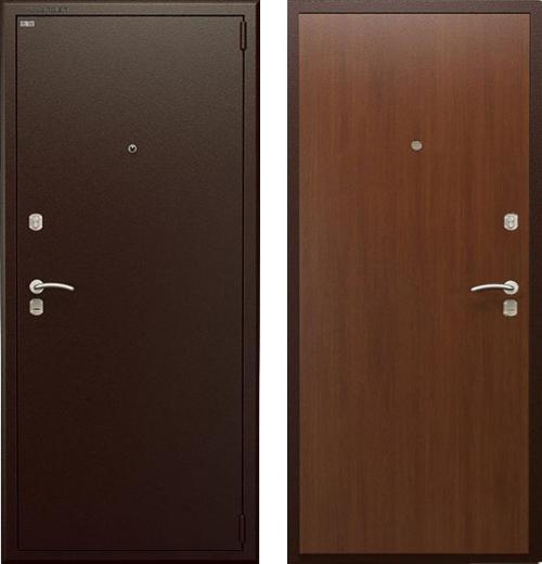входные двери (стальные двери, металлические двери) DOORS007: дверь Гардиан ДС2  Орех итальянский