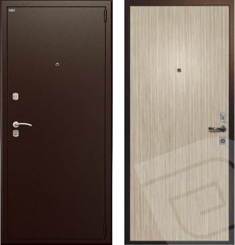 входные двери (стальные двери, металлические двери) DOORS007: дверь Гардиан ДС9 Венге светлый