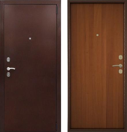 входные двери (стальные двери, металлические двери) DOORS007: дверь Гардиан Фактор (Медный антик + Орех темный)