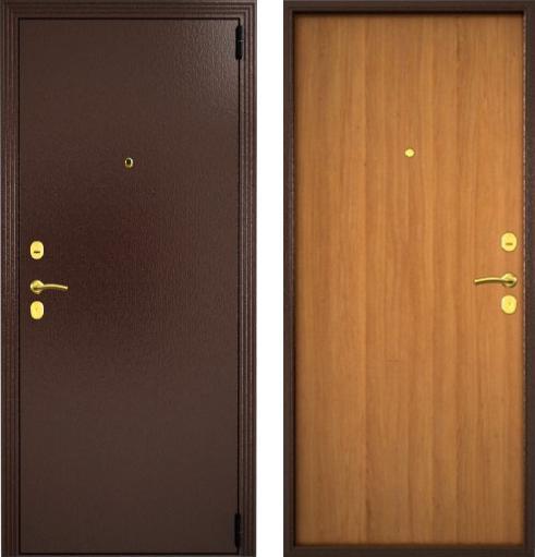 входные двери (стальные двери, металлические двери) DOORS007: дверь Гардиан Фактор (Медный антик + Орех светлый)