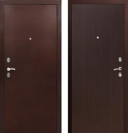 входные двери (стальные двери, металлические двери) DOORS007: дверь Гардиан Фактор (Медный антик + Венге)