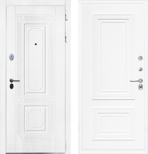 входные двери (стальные двери, металлические двери) DOORS007: дверь Интекрон Брайтон White Сан Ремо