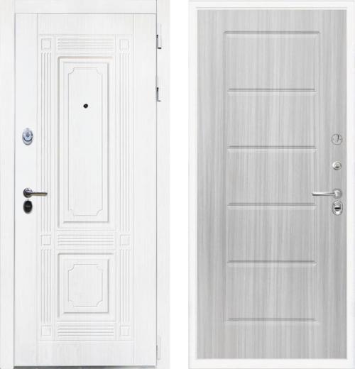 входные двери (стальные двери, металлические двери) DOORS007: дверь Интекрон Брайтон White ФЛ-39