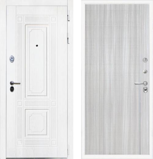 входные двери (стальные двери, металлические двери) DOORS007: дверь Интекрон Брайтон White L5