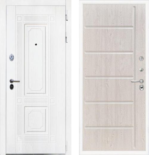 входные двери (стальные двери, металлические двери) DOORS007: дверь Интекрон Брайтон White ФЛ-102