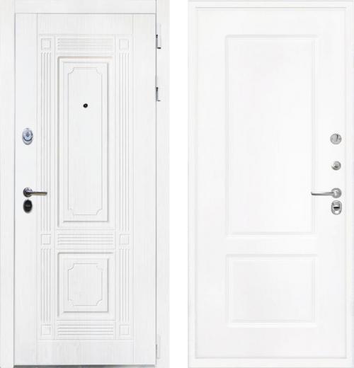 входные двери (стальные двери, металлические двери) DOORS007: дверь Интекрон Брайтон White КВ-2