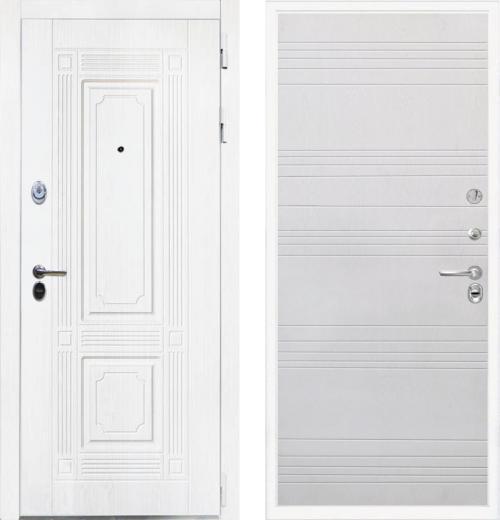 входные двери (стальные двери, металлические двери) DOORS007: дверь Интекрон Брайтон White ФЛ-316