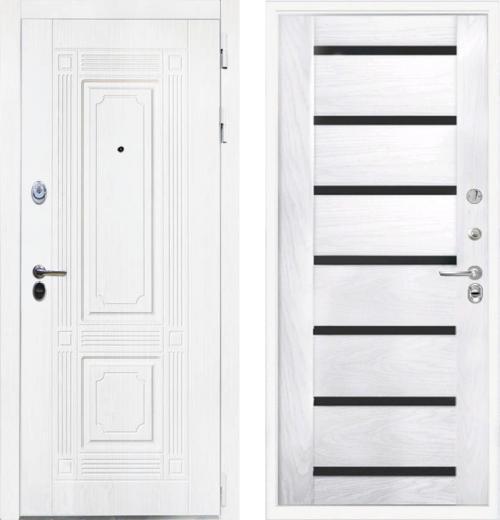 входные двери (стальные двери, металлические двери) DOORS007: дверь Интекрон Брайтон White Фоджа Багет