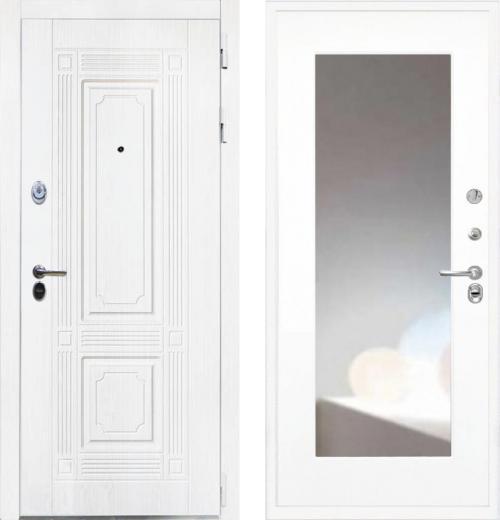 входные двери (стальные двери, металлические двери) DOORS007: дверь Интекрон Брайтон White ФЛЗ-120