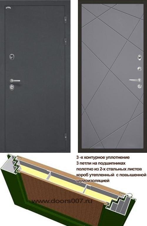 входные двери (стальные двери, металлические двери) DOORS007: дверь Интекрон Греция Лучи, Цвет