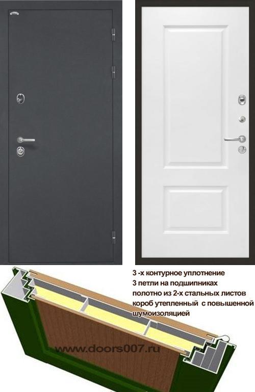 входные двери (стальные двери, металлические двери) DOORS007: дверь Интекрон Греция Альба, Цвет