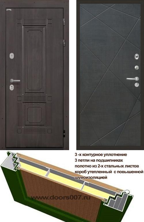 входные двери (стальные двери, металлические двери) DOORS007: дверь Интекрон Италия Лучи