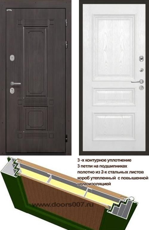 входные двери (стальные двери, металлические двери) DOORS007: дверь Интекрон Италия Валентия 2, шпон