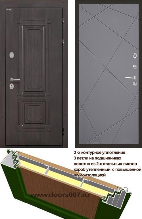 входные двери (стальные двери, металлические двери) DOORS007: дверь Интекрон Италия Лучи, Цвет