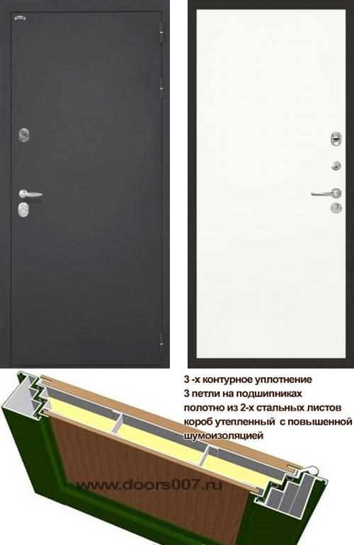 входные двери (стальные двери, металлические двери) DOORS007: дверь Интекрон Колизей Гладкая, Цвет