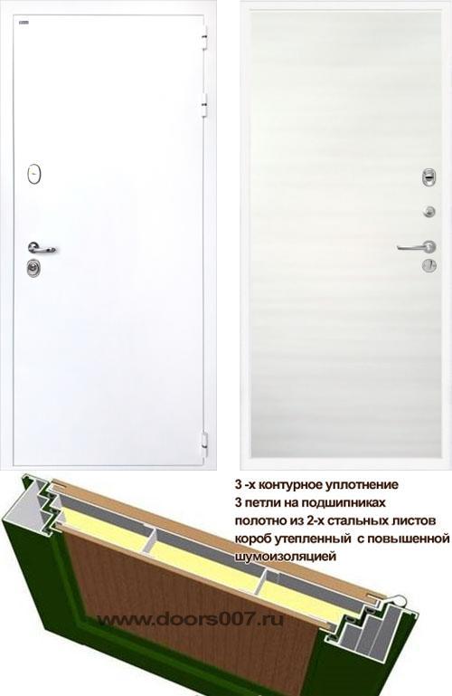 входные двери (стальные двери, металлические двери) DOORS007: дверь Интекрон Колизей WHITE Гладкая