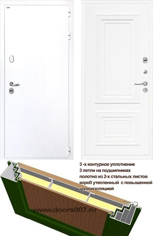 входные двери (стальные двери, металлические двери) DOORS007: дверь Интекрон Колизей WHITE Сан Ремо