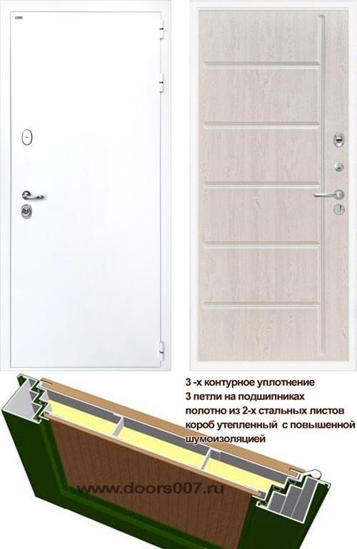 входные двери (стальные двери, металлические двери) DOORS007: дверь Интекрон Колизей WHITE ФЛ-102