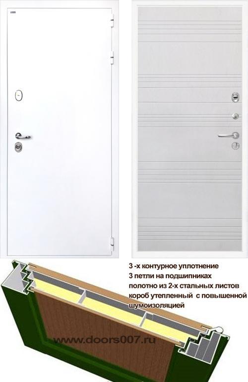 входные двери (стальные двери, металлические двери) DOORS007: дверь Интекрон Колизей WHITE ФЛ-316