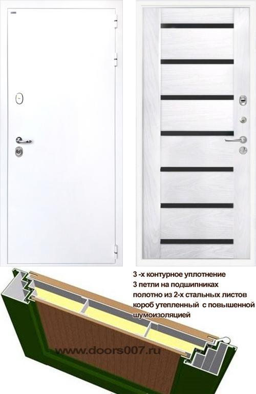 входные двери (стальные двери, металлические двери) DOORS007: дверь Интекрон Колизей WHITE Фоджа Багет
