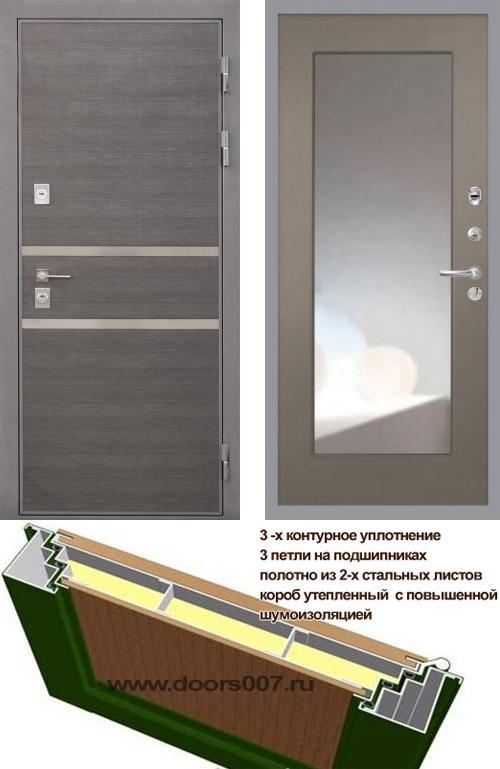 входные двери (стальные двери, металлические двери) DOORS007: дверь Интекрон Неаполь ФЛЗ-120 Max