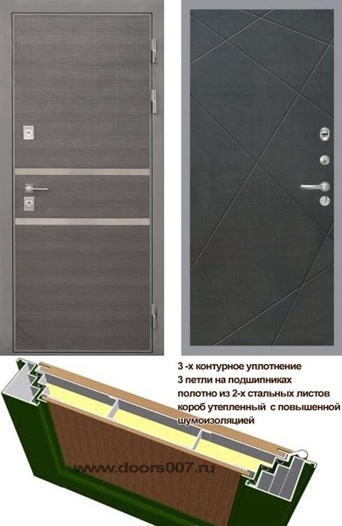 входные двери (стальные двери, металлические двери) DOORS007: дверь Интекрон Неаполь Лучи