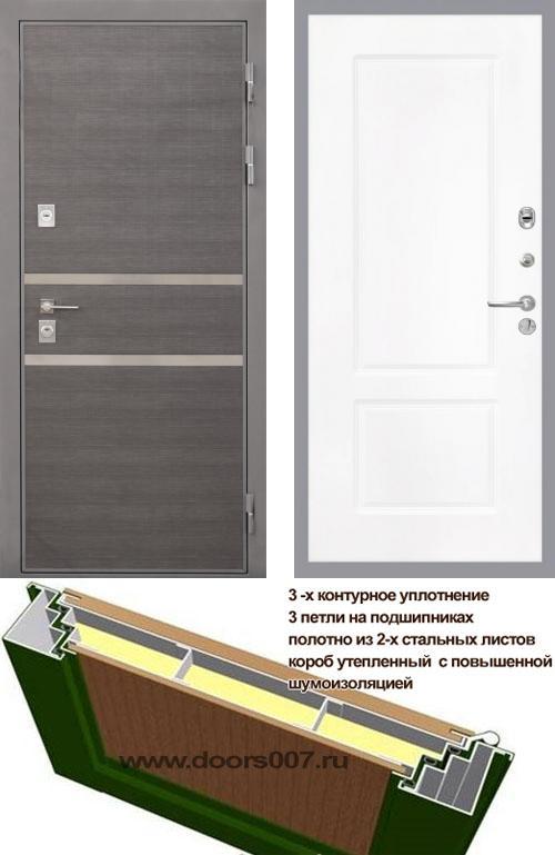 входные двери (стальные двери, металлические двери) DOORS007: дверь Интекрон Неаполь КВ-2