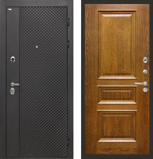 входные двери (стальные двери, металлические двери) DOORS007: дверь Интекрон Олимпия Black Валентия 2, шпон