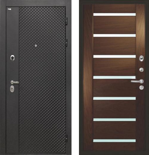 входные двери (стальные двери, металлические двери) DOORS007: дверь Интекрон Олимпия Black Фоджа Багет, Цвет