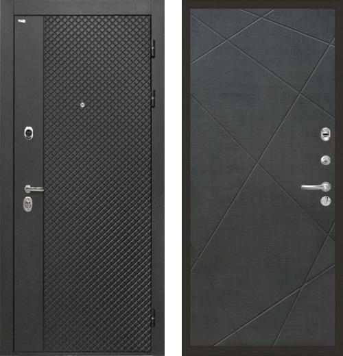 входные двери (стальные двери, металлические двери) DOORS007: дверь Интекрон Олимпия Black Лучи