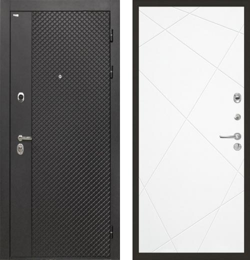 входные двери (стальные двери, металлические двери) DOORS007: дверь Интекрон Олимпия Black Лучи, Цвет