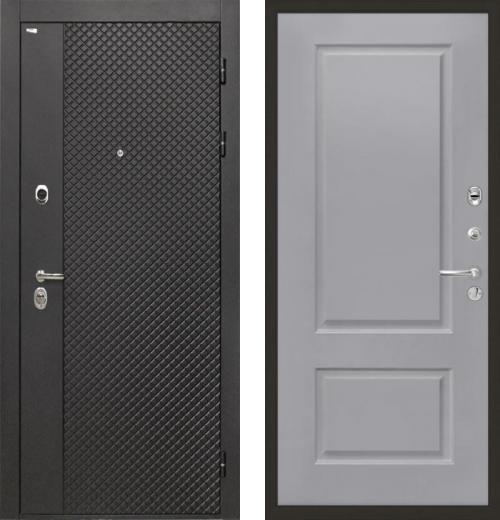 входные двери (стальные двери, металлические двери) DOORS007: дверь Интекрон Олимпия Black Альба, Цвет