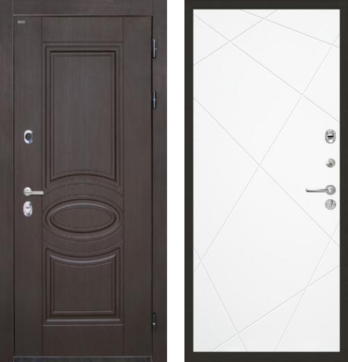 входные двери (стальные двери, металлические двери) DOORS007: дверь Интекрон Олимпия Венге Лучи, Цвет