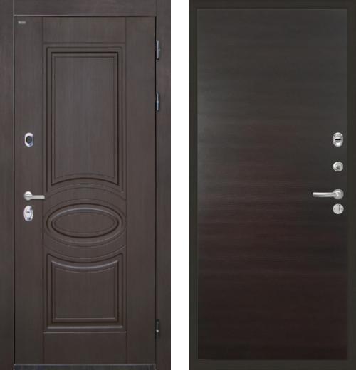 входные двери (стальные двери, металлические двери) DOORS007: дверь Интекрон Олимпия Венге Гладкая, Цвет