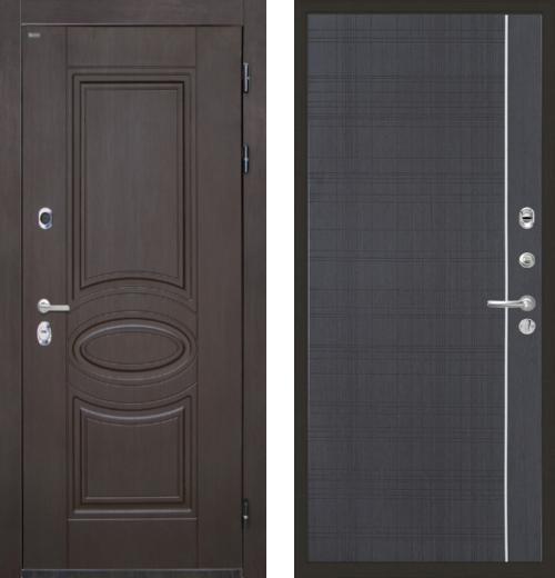 входные двери (стальные двери, металлические двери) DOORS007: дверь Интекрон Олимпия Венге L5, Цвет