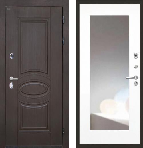 входные двери (стальные двери, металлические двери) DOORS007: дверь Интекрон Олимпия Венге ФЛЗ-120