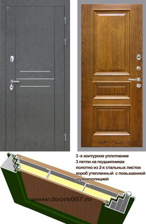 входные двери (стальные двери, металлические двери) DOORS007: дверь Интекрон Сенатор ЛОФТ Валентия 2, шпон