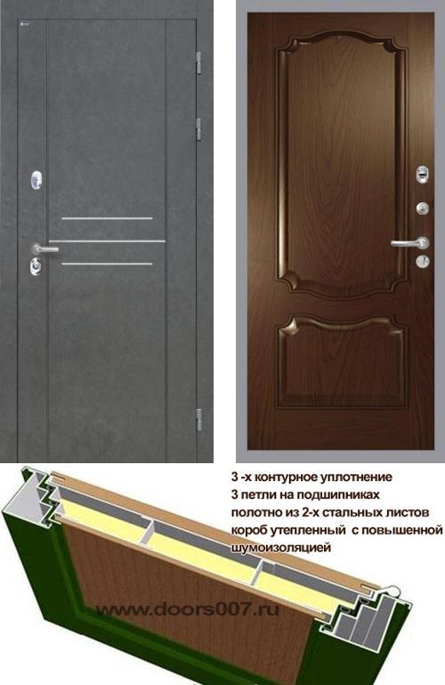 входные двери (стальные двери, металлические двери) DOORS007: дверь Интекрон Сенатор ЛОФТ Позитано Багет