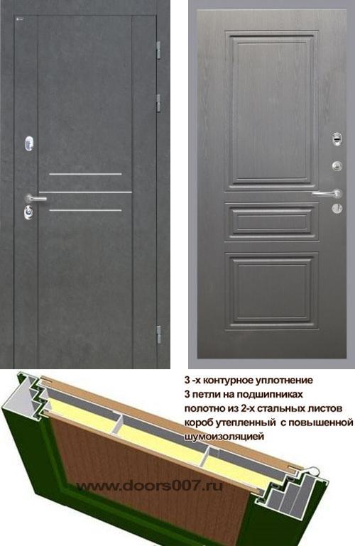 входные двери (стальные двери, металлические двери) DOORS007: дверь Интекрон Сенатор ЛОФТ ФЛ-243-М, Цвет